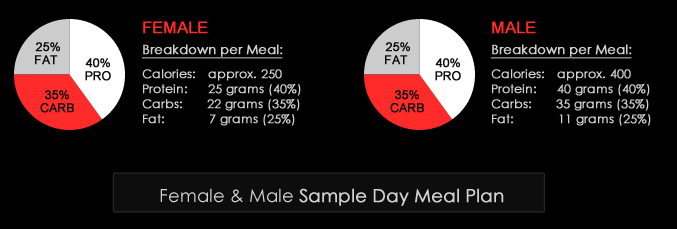RIPPED Diet & Nutrition Sample Meal Plan